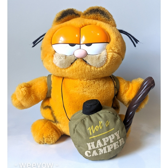 Vintage Other - Vintage Garfield Not A Happy Camper Plush